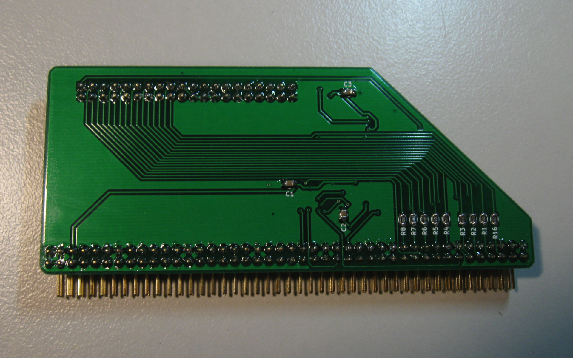 Amiga 500 Ata Hard Disk Interface Drive Circuit Board Pcb Hdd Connected To The Front Back